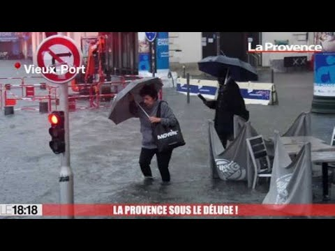 Marseille : le Vieux-Port inondé