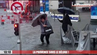 OCTOBRE 2019: Marseille : le Vieux-Port inondé