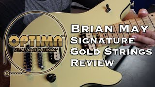 Optima Strings Brian May Signature Gold Guitar Strings Review - Do Gold Strings Have Better Tone?