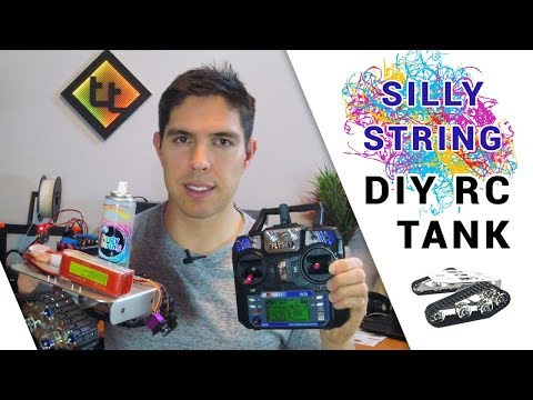 3D Printed RC Silly String Tank - Part 1: Assembly, Electronics And Arduino Code