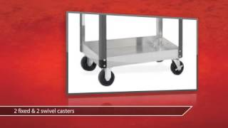3 Drawer Stainless Steel Rolling Utility Cart - Westward Product Review Video