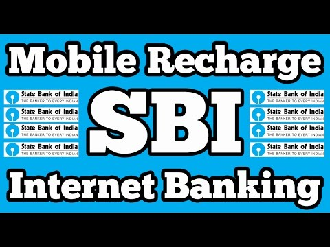 Mobile Topup or DTH recharge on SBI Online Internet Banking  || State Bank of India