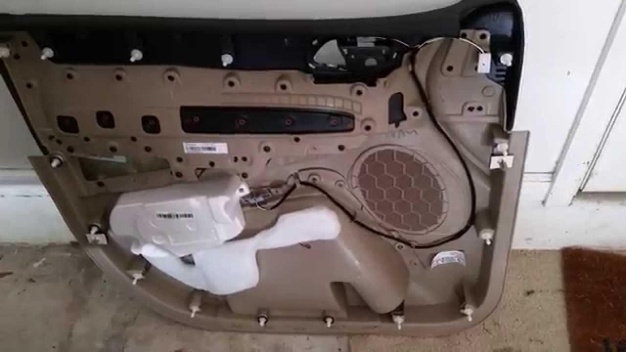 2014 Dodge Durango SUV - Plastic Interior Door Panel Removed To Upgrade OEM Speaker & 2014 Dodge Durango SUV - Plastic Interior Door Panel Removed To ...