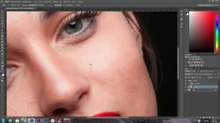 Ретушь кожи методом частотного разложения в Adobe Photoshop