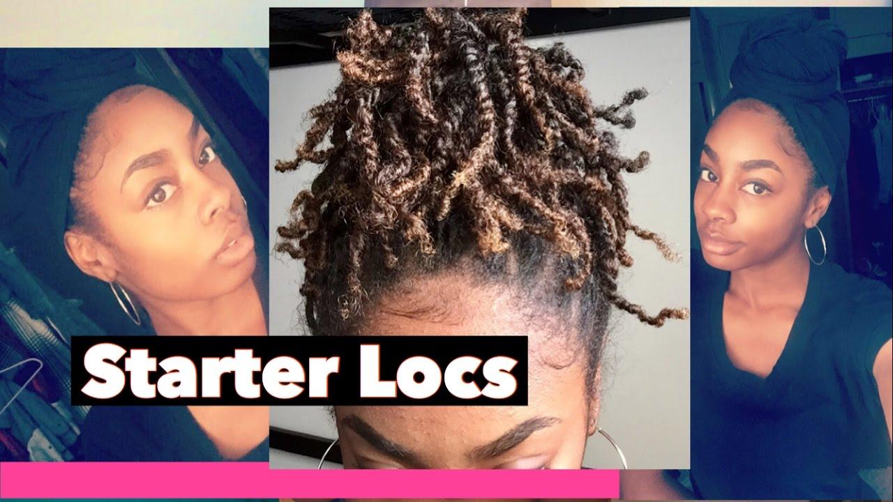 starter locs- two strand twists