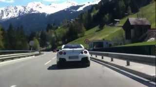 E36 Coupé & Nissan GT-R on Austrian serpentine /Brutal acce