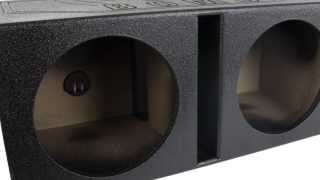 """Q-power Qbomb 12"""" Dual Vented Subwoofer Enclosure   Qbomb12vl"""
