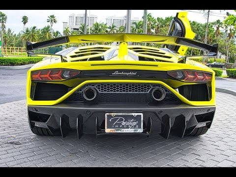 Lamborghini Aventador SVJ 759hp V12 ANGRY BULL Interior Exterior Start up Drive at Lamborghini Miami