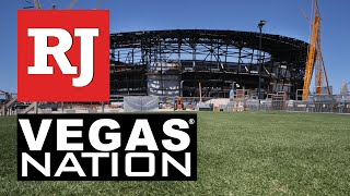 Potential grass Raiders will play on being tested out by Las Vegas stadium crew