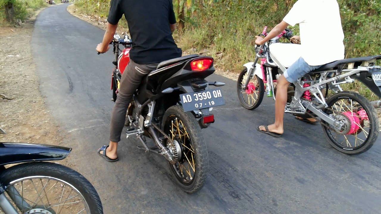 ninja drag rr #jasa bunda racing team vs ninja r - youtube