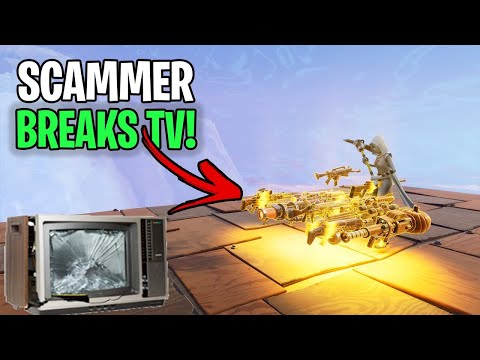 Angry Scammer Broke His Tv And Deleted Fortnite! (Scammer Gets Scammed) Fortnite Save The World