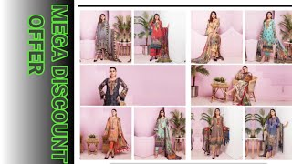 Premium quality embroided lawn || bamber chifoon dupata ||  RA Designers || Eid collection