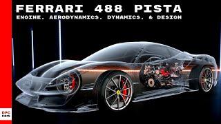 Ferrari 488 Pista Engine, Aerodynamics, Dynamics, & Design