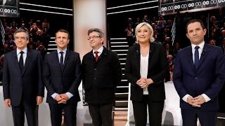 مناظرة أولى حامية بين أبرز مرشحي الانتخابات الرئاسية الفرنسية