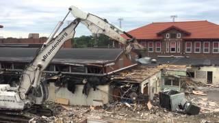 Hall High School demolition