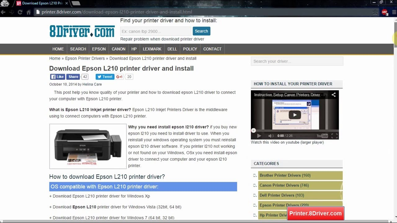 How to download Printer driver on Printer 8Driver com