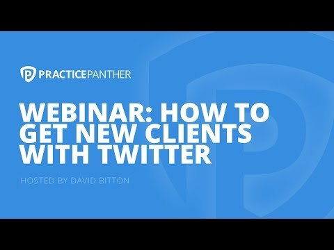 (Webinar) Learn How to Get New Clients with Twitter, with Larry Bodine