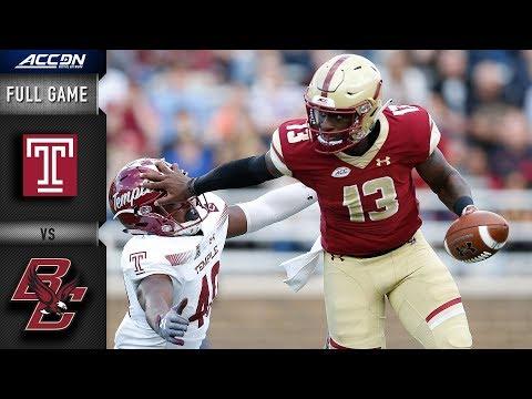 Temple Vs Boston College Full Game | 2018 ACC Football