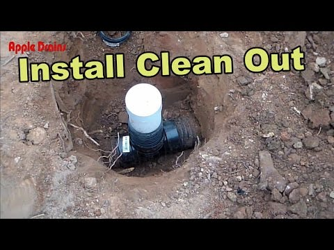How To Add Clean Out To a French Drain