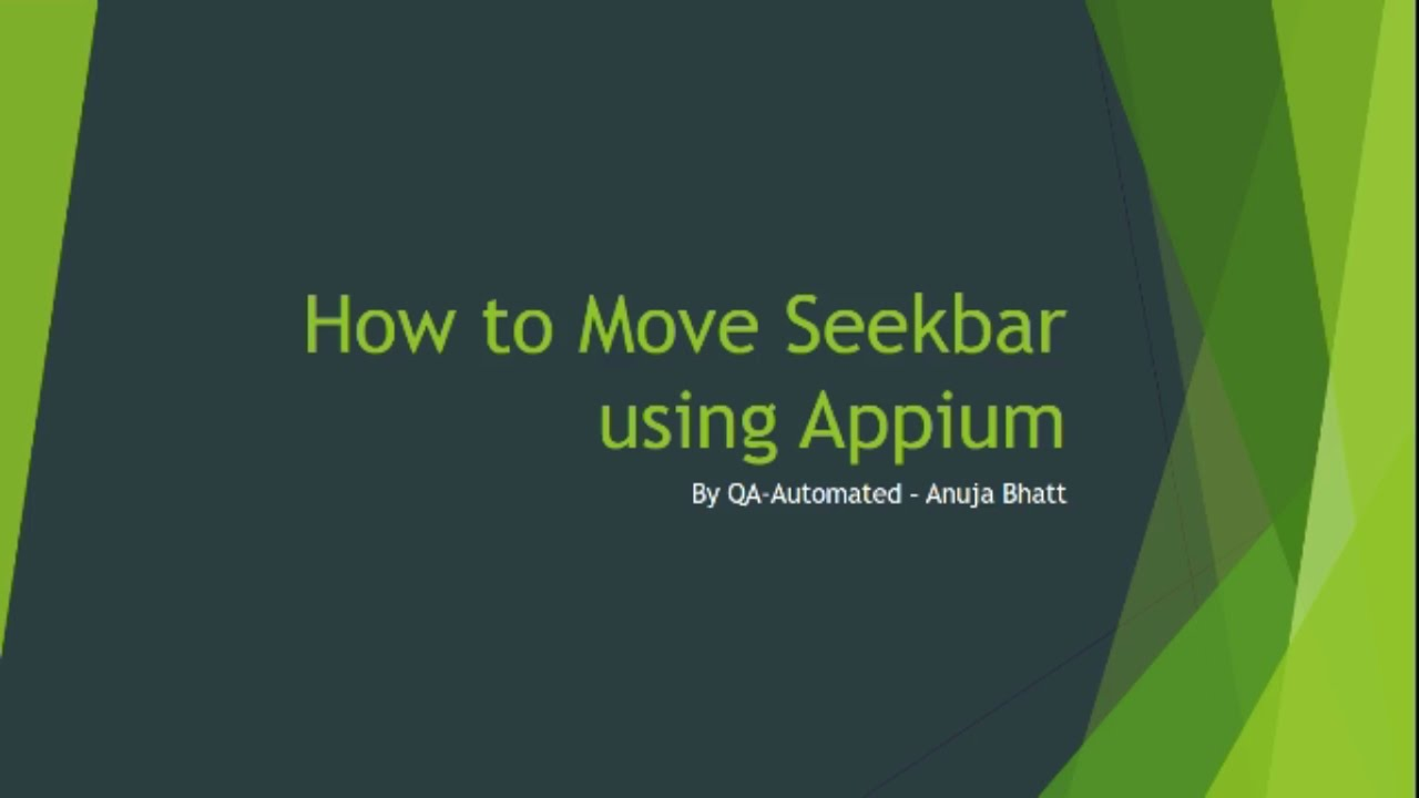 QA Automated: How to Move SeekBar with Appium ?