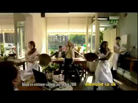 Diamond Car Insurance Café advertisement featuring Diamonds Are a Girls Best Friend