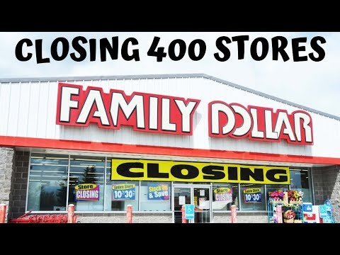Family Dollar Closes 400 Stores!!