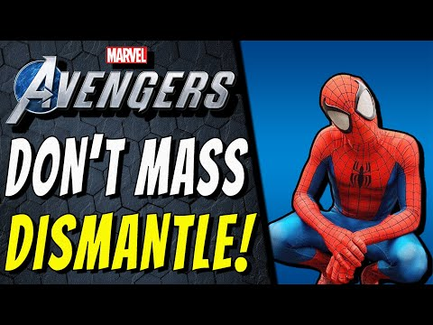 MASS DISMANTLING GEAR IS WRONG! | Marvel's Avengers Locker Dismantle & Why You Run Out Of Materials