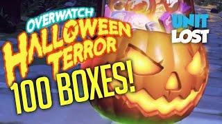 Overwatch - Opening 100 Halloween Terror Loot Boxes!!!