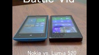 Battle Vid: Nokia X vs  Lumia 520