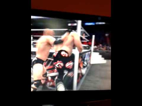 WWE2K14 OMG-Big Boot At Steel Post