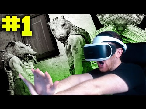FIRST TIME WITH PS4 VIRTUAL REALITY!!
