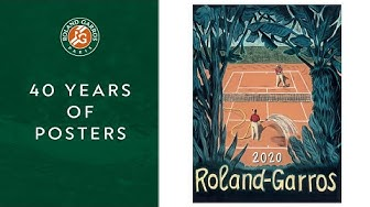 40 years of posters at Roland-Garros, looks from contemporary artists
