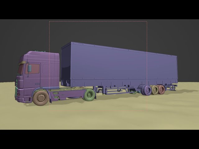 How to rig and animate a semi trailer truck in blender 2.9 in 8 minutes