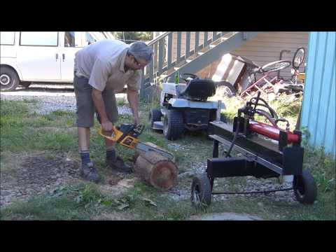 Home Built 5HP Hydraulic Log Splitter