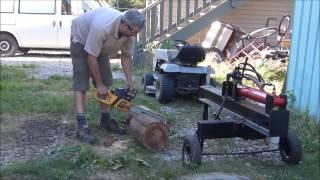 Home Built 5hp Hydraulic Log Splitter