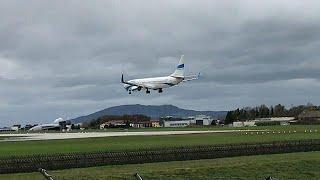 Şiddetli Rüzgardan Dolayı Uçak Piste Inemedi