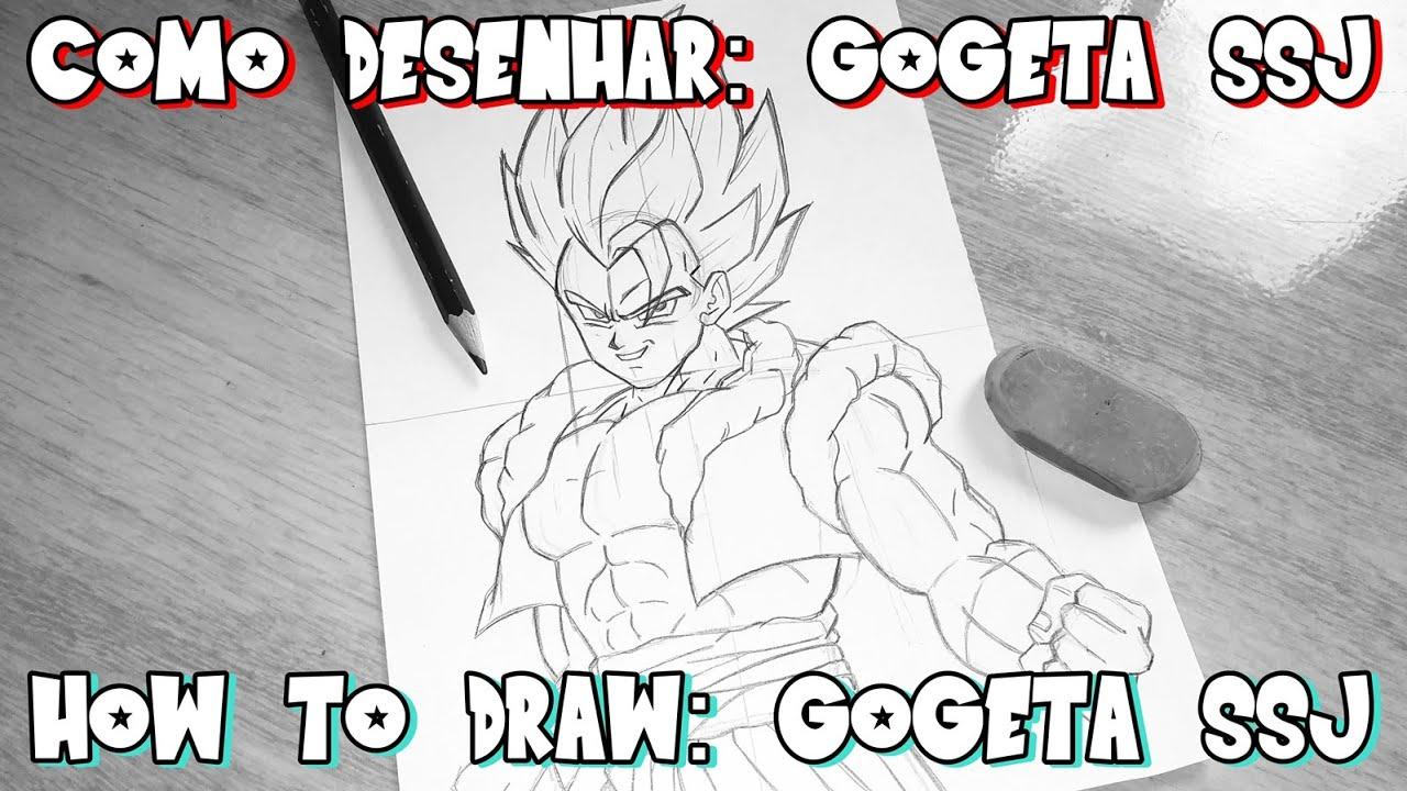 como desenhar o gogeta ssj how to draw gogeta ssj movie dragon