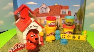PLAY-DOH Clifford Playset Clifford the Big Red Dog Tutorial