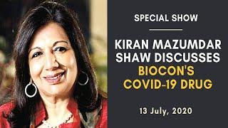 Kiran Mazumdar Shaw Discusses Biocon's Covid-19 Drug | Faye D'Souza