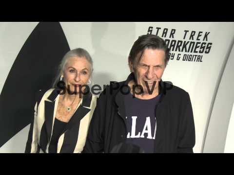 Susan Bay, Leonard Nimoy At Star Trek Into Darkness Blu-r...