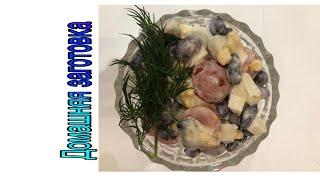 Салат с консервированной фасолью (красной) Быстро, просто, вкусно эпизод №242