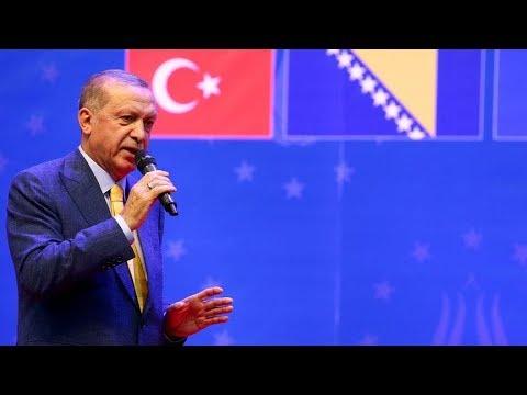 Cumhurbaşkanı Erdoğan, Uluslararası Saraybosna Üniversitesi fahri doktora töreninde konuşuyor