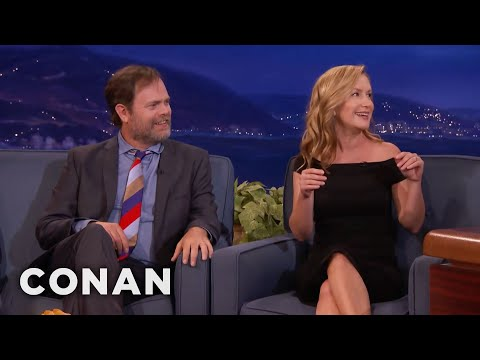 "Rainn Wilson & Angela Kinsey's Mini ""Office"" Reunion  - CONAN on TBS"