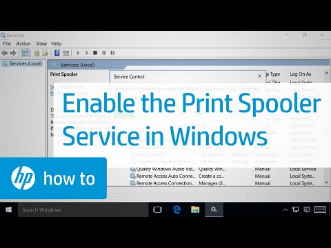 Enabling the Print Spooler Service in Windows | HP Printers