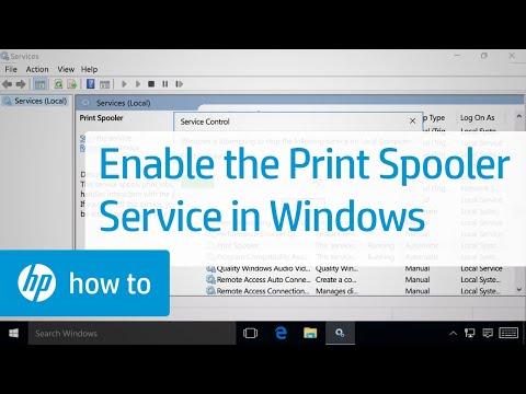Enabling the Print Spooler Service in Windows