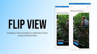 Implementing Flip Animation in Xamarin.Forms | Using Xamarin.Forms CarouselView.