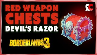 Devil's Razor ALL 2 RED CHEST Locations | Borderlands 3 (Secret Weapon Caches)