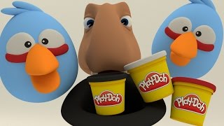 ANGRY BIRDS STOP-MOTION PLAYDOH DINOSAUR ANIMATION