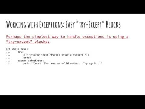 Python: 3.1 - Errors and Exceptions