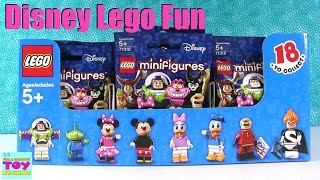 Disney Lego Minifigures Full Set Box Opening Unboxing 71012 Toy Review | PSToyReviews